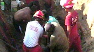 Jóvenes obreros murieron sepultados en zanja de Puente Piedra
