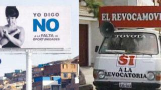 Revocatoria: grandes carteles por el 'No' y el 'revocamóvil' toman las calles