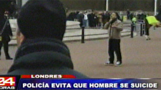 Londres: detienen hombre que intentó suicidarse frente al Palacio de Buckingham