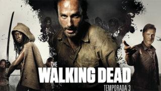 """Serie americana """"The Walking Dead"""" anuncia regreso de su tercera temporada"""