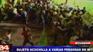 Ecuador: asesinan a dos personas y dejan cinco heridos en mitin de Correa