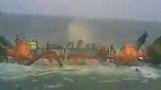 Video: trabajadores se hunden junto con plataforma petrolera en Irán