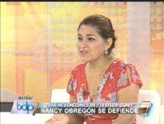 Nancy Obregón negó tajantemente haber tenido vínculos con Artemio