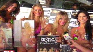 Bellas modelos presentaron calendario 'Rustica 2013' junto a Leslie Shaw