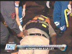 Policía fue atropellado por combi y chofer se dio a la fuga