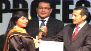 Callao: Ollanta Humala entregó becas universitarias a jóvenes estudiantes