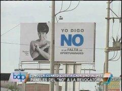 """Sepa cuánto le cuesta a los promotores del """"No"""" su paneles publicitarios"""