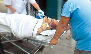 Julio García fue traslado a Lima para ser operado