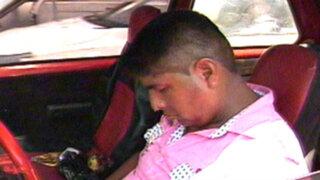 Policía ebrio se durmió en su auto y bloqueó el tránsito en la avenida Faucett