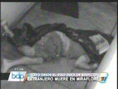 Turista murió tras caer del doceavo piso de un edificio en Miraflores