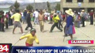"""Cajamarca: pobladores castigan a ladrones con popular """"Callejón Oscuro"""""""