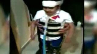 Imágenes de la milagrosa recuperación de la pequeña Romina Cornejo