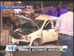 Aparatoso accidente entre camión y taxi dejó tres muertos en el Callao