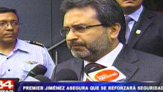 Premier Jiménez: La tarea de prevención del delito debemos asumirla todos
