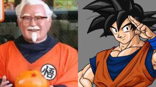 Japón: Kentucky Fried Chicken vistió al Coronel Sanders como Gokú