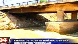 Puente de la avenida Universitaria no podrá ser arreglado hasta fines de verano