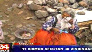 Arequipa: más de cien familias perdieron sus hogares por fuertes sismos