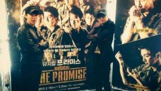Integrantes de Super Junior muestran apoyo a compañero en el ejército