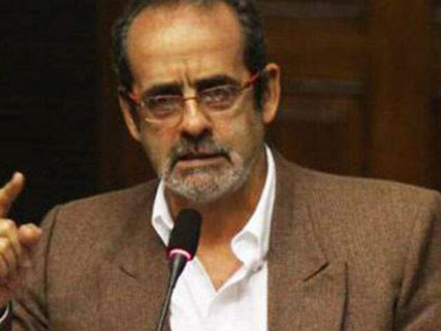 PJ declaró nula suspensión del congresista  Javier Diez Canseco