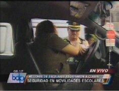 Policía del Callao continúa supervisión de movilidades escolares