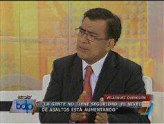 Javier Velásquez: No hay voluntad política para luchar contra delincuencia