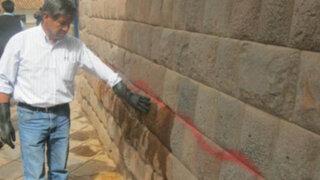 Cusco: desconocidos pintarrajearon 302 piedras de una pared inca