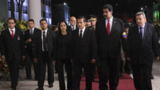Ollanta Humala llegó a Venezuela para despedir a Hugo Chávez
