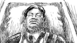 Publican dibujo de cómo se vería Hugo Chávez dentro de su ataúd