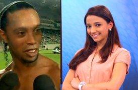 Ronaldinho invitó a salir a reportera que estaba entrevistandolo