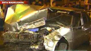 Tres choques fueron registrados esta madrugada en la Panamericana Norte