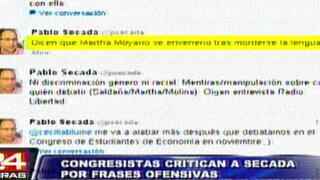 Comentario ofensivo a Martha Moyano causó indignación en el Congreso