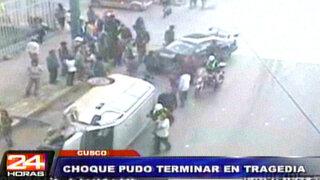 Cusco: peatones salvan milagrosamente de morir atropellados