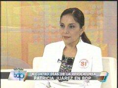 Patricia Juárez: Sendero y Movadef apoyan a Susana Villarán