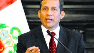 Presidente Humala: Hay políticos que se quieren tirar el servicio militar