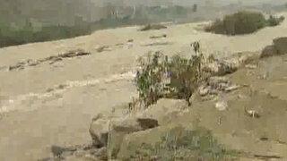 Cieneguilla: desborde de río Lurín bloquea carretera