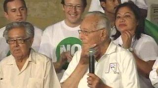 "Ex alcalde de Lima Luis Bedoya Reyes se suma al ""No"" a la revocatoria"