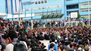 Huaraz: estudiantes irrumpen en universidad y dejan cinco personas heridas