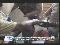 Incautan celulares y agendas en penal Piedras Gordas