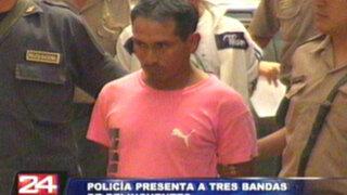 Policía presenta a tres peligrosas bandas de delincuentes