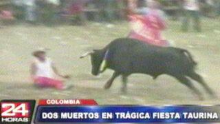 Colombia: dos personas mueren en trágico festival taurino