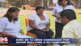 Poder Judicial sentenció a escolar por hacer bullying a su compañero