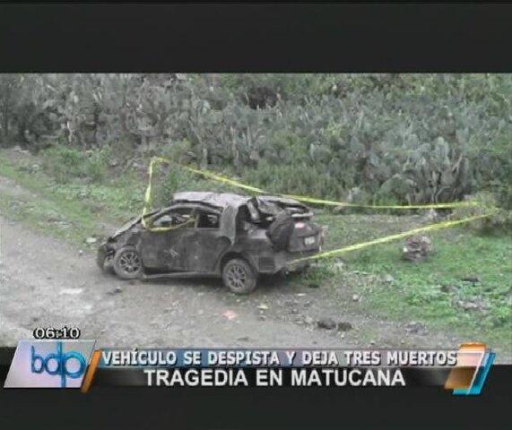 Aparatoso accidente dejó tres muertos en Matucana