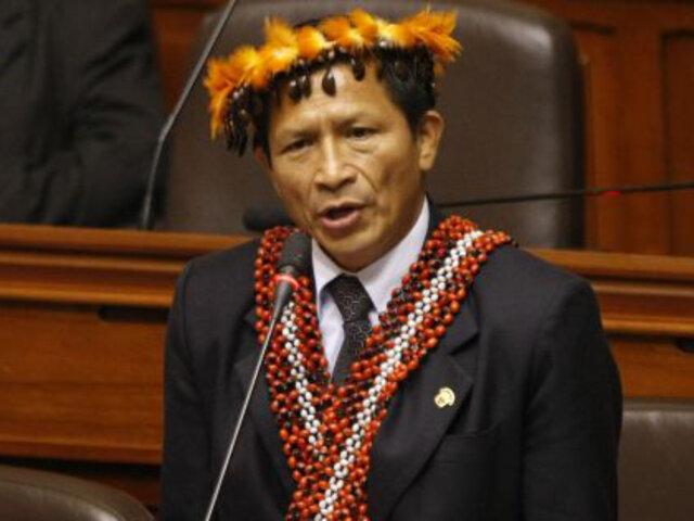 Congreso rechazó levantamiento de inmunidad a parlamentario Eduardo Nayap