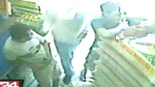 Cámaras de seguridad registran asaltos en el interior del país