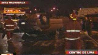 Exceso de velocidad provocó accidente en Avenida Paseo Colón