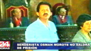 Justicia interpondría 25 años más para senderista Osmán Morote