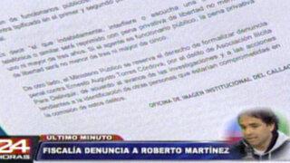 """Ministerio Público denunció a Roberto Martínez por """"chuponeo"""" en el Callao"""