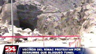 Rímac: vecinos cuestionan derrumbes en obras del túnel Santa Rosa