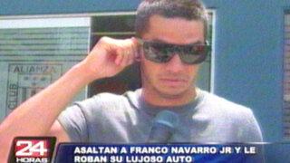 Ladrones dejan sin auto a aliancista Franco Navarro Jr.