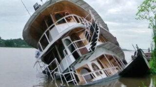Turistas salvan de morir al hundirse embarcación en el río Marañón